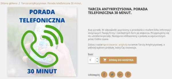 tarcza antykryzysowa - porada telefoniczna